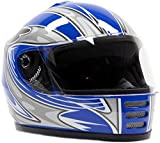 Youth Full Face Helmet Blue ( Medium )