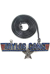 """Black Iced Out Taylor Gang Music Pendant & 36"""" Franco Necklace Chain"""