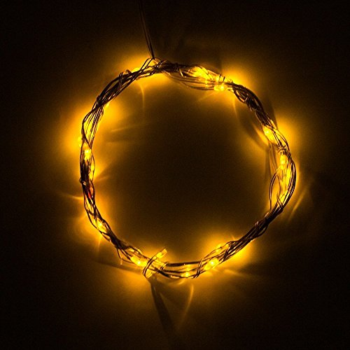 Binzet Soft Wire Led Light String 3M 30 Led Bulbs Starry Starry Light Indoor String Light Outdoor String Lights 3 Aa Batteries Operated Led Fairy Light - Yellow