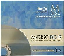 Millenniata M-DISC BD-R en blanco 3 por paquete (velocidad 4x, 25 GB, husillo 3)