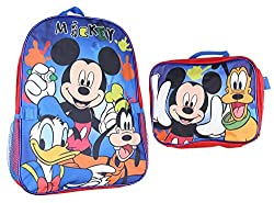 Mickey Mouse and Friends 15 Backpack with Lunch Bag