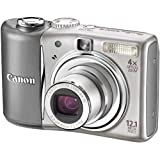 Canon PowerShot A1100 IS Digital Camera - Silver (12.1 MP, 4x Optical Zoom) 2.5 inch LCDby Canon