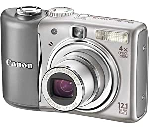 Canon PowerShot A1100 IS Digital Camera - Silver (12.1 MP, 4x Optical Zoom) 2.5 inch LCD