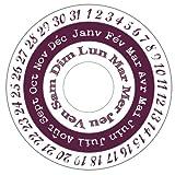 Aladine - 03570 - Tampons À Imprimer - Stampo Maxi - Set Calendrier...