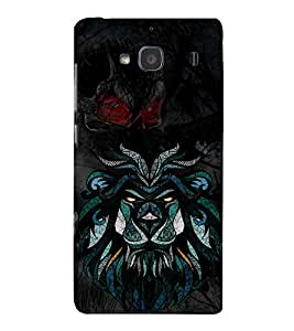 Graphical Tiger Champak Cute Fashion 3D Hard Polycarbonate Designer Back Case Cover for Xiaomi Redmi 2S :: Xiaomi Redmi 2 Prime :: Xiaomi Redmi 2