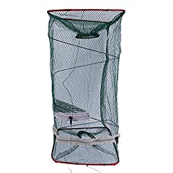 Magideal Portable Foldable Fishing Catch Cage Lobster Crab Crawfish Nylon Trap Net