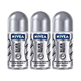 Nivea For Men Silver Protect Deodorant Roll-On 50 Ml (3-Pack)