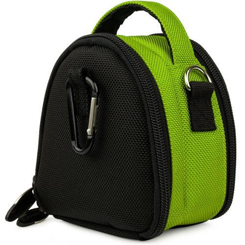 Lime Green VG Laurel Edition Stylish Nylon Camera Carrying Case Pouch for Samsung ST66 ST93 ST95 ST90 ST65 ST30 ST700 ST80 ST100 ST550 SL202 SL30 SL102 DV300F MV800 PL150 PL170 PL120 PL200 PL210 PL100 SH100 WB210 WB700 WB2000 AQ100 WP10 TL350 TL210 TL205