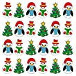 36 X CHRISTMAS MIX 1 EDIBLE RICE / WAFER PAPER CUP CAKE TOPPERS BIRTHDAY PARTY WEDDING DECORATION