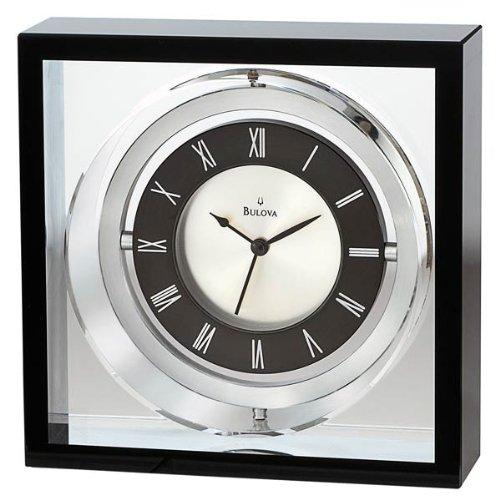 Bulova Executive Orion Tabletop Clock Black - B9860