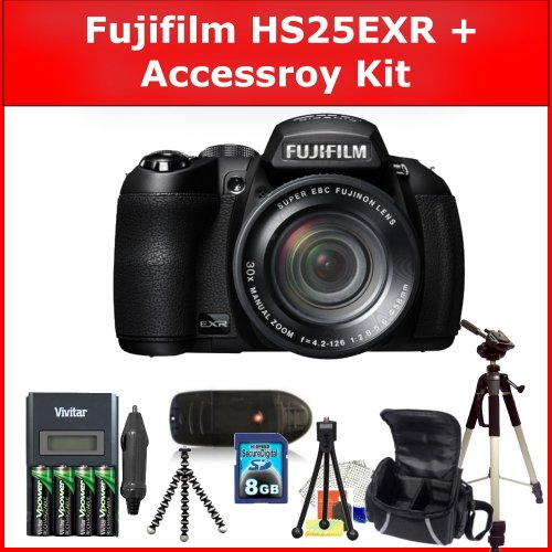 Fujifilm FinePix HS25EXR Digital Camera and Accessory Kit