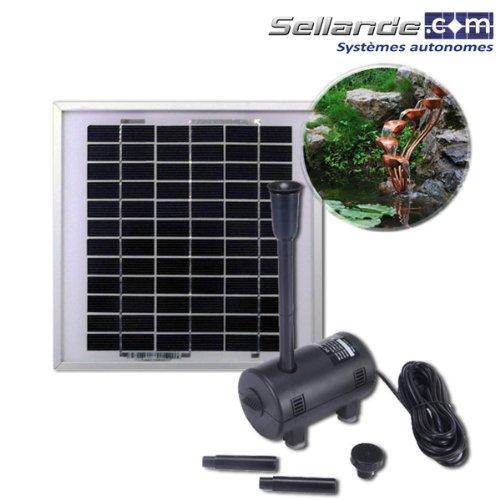 babeba kit pompe solaire blp750 pour bassin de jardin avec panneau solaire 10w. Black Bedroom Furniture Sets. Home Design Ideas