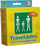 TravelJohn Disposable Urinal Bag - 6 x 3 pack (18 urinals)