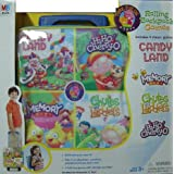 Milton Bradley Rolling Backpack with 4 Games Candy Land and more ~ Hasbro