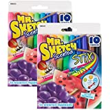 Sanford Mr.Sketch Scented Stix Watercolor Markers, Assorted Colors, 20/Pack - SAN03610