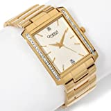 BULOVA Watches:Caravelle Bulova Men-s Diamond Bezel Goldtone Stainless Steel Bracelet Watch