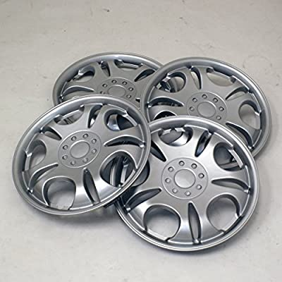 TuningPros WSC2-032S15 Hubcaps Wheel Skin Cover Type 2 15-Inches Silver Set of 4
