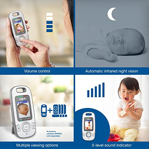 VTech VM312-2 Safe & Sound Video Baby Monitor with Night Vision and Two Cameras