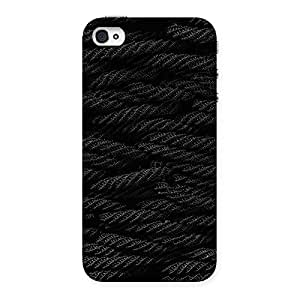 Delighted Rope Pattern Back Case Cover for iPhone 4 4s