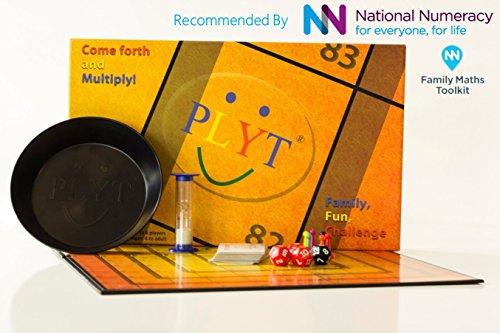 PLYT - el competitivo juego de tablero de números que toda la familia puede disfrutar - que se ha demostrado que mejora las matemáticas, con el respaldo de expertos, gran diversión competitiva