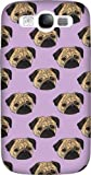 Disguised® 'Pug Life' Samsung Galaxy S3 i9300 Case Cover by Katie Reed - 3D Full Wrap Design