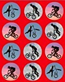 12 Bmx Bike rice paper fairy cup cake 40mm toppers pre cut decoration