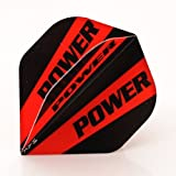 3 x SETS POWER MAX EXTRA TOUGH DART FLIGHTS BLACK RED STRIPE SUPER STRONG STANDARD