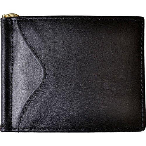 Royce Leather RFID Blocking Money Clip Wallet (Black) (Bear Wallet compare prices)