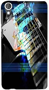 PrintVisa 3D-HTCD820-D7892 Music Guitar Case Cover for HTC Desire 820