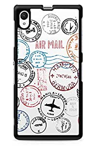 GeekCases Postal Stamps Back Case for Sony_Xperia Xperia Z1