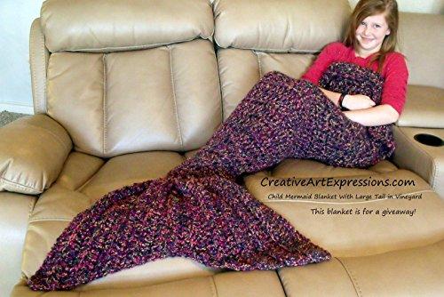Crocheted Made To Order Mermaid Blanket