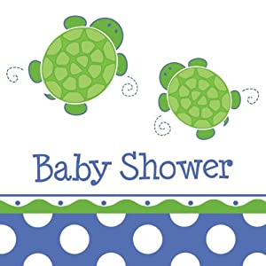 Creative Converting Mr. Turtle Baby Shower Luncheon Napkins, 16-Count from Creative Converting