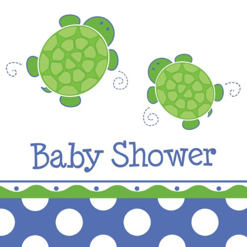Creative Converting Mr. Turtle Baby Shower Luncheon Napkins, 16-Count