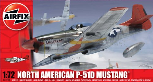 Airfix 1:72 North American P-51D Mustang (A01004) (Airfix Model Kits compare prices)