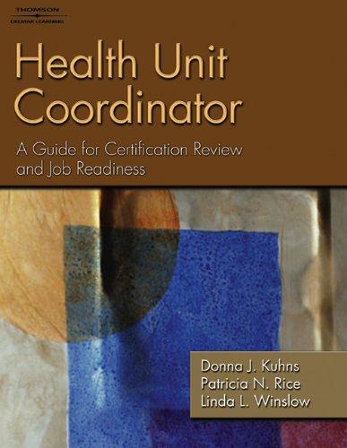 Health Unit Coordinator 1418052450