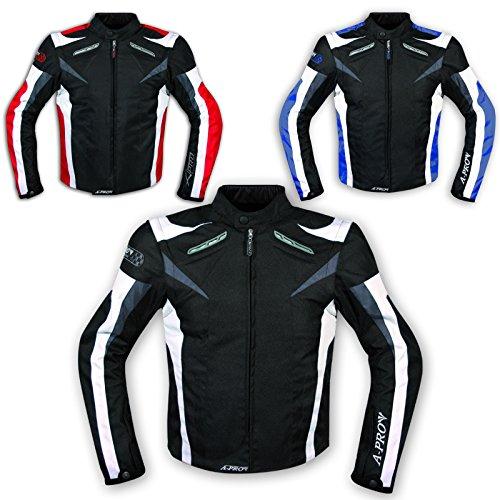 Moto-Giacca-Pelle-Motociclismo-Sport-Gilet-Estraibile-Protezioni-CE-Traspirante