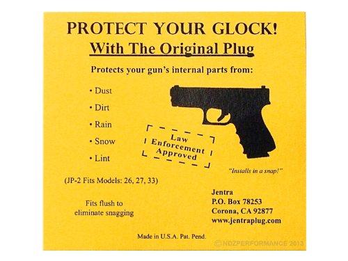 EMS Star of life Medical Engraved Jentra JP-2 Grip Slug Plug for Glock 26 27 33 39 GEN 1-3 by NDZ Performance