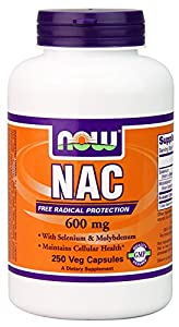 NOW Foods Nac-Acetyl Cysteine 600mg, 250 Vcaps