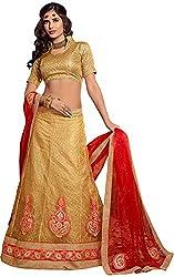 SHYAM FAB Women's Lehenga Choli (ALS52005 , Gold)