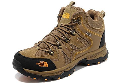 THE NORTH FACE ザ ノースフェース 防水 トレッキングシューズ 登山靴 ハイカット スニーカー アウトドア シューズ (EUR42(26CM), ブラウン)