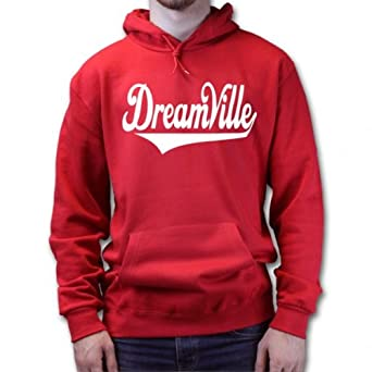 j cole dreamville hoodie red sizel amazoncouk