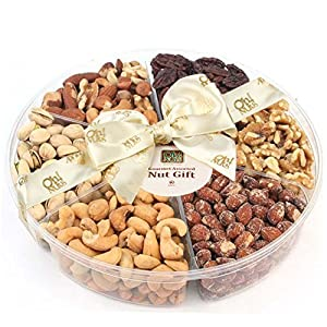 Oh! Nuts Holiday Freshly Roasted Nuts Gift Basket (Jumbo Nuts Gift Tray)