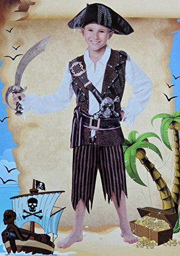 deluxe-caribbean-pirate-boy-fancy-dress-costume-age-5-6-years-with-sword-tricorn-hat-and-skull-cross
