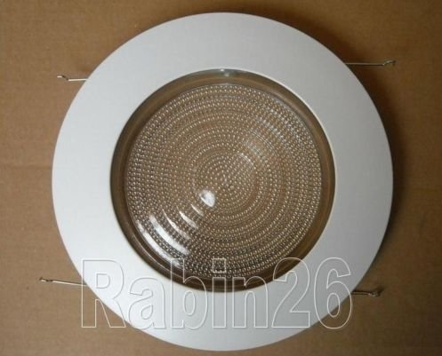 6 Inch Recessed CAN Light RUST PROOF PLASTIC RING Shower Trim Clear Fre