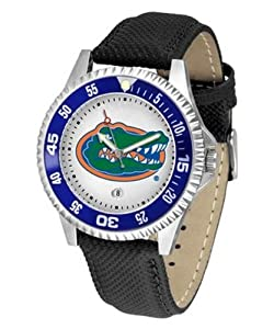 Florida Gators UF NCAA Mens Leather Wrist Watch by SunTime