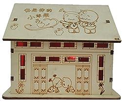 JaipurCrafts Wooden Coin Bank With Light