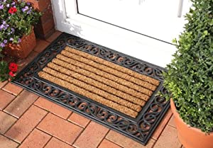 New Classic Thick Coir and Rubber Large Doormat 45x75cm