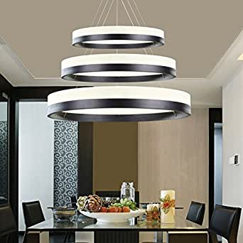 Siljoy Modern Three Rings (11.8 - 19.7 - 27.6 Inches) Pendant Lamp