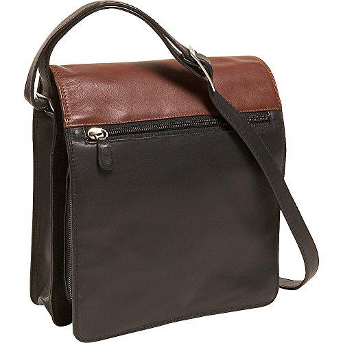 derek-alexander-leather-utility-full-flap-full-size-ladies-organizer-shoulder-bag-black-and-brandy