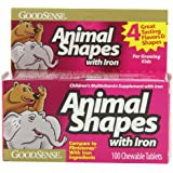 GoodSense Animal shapes chewable vitamins with iron, 100-count